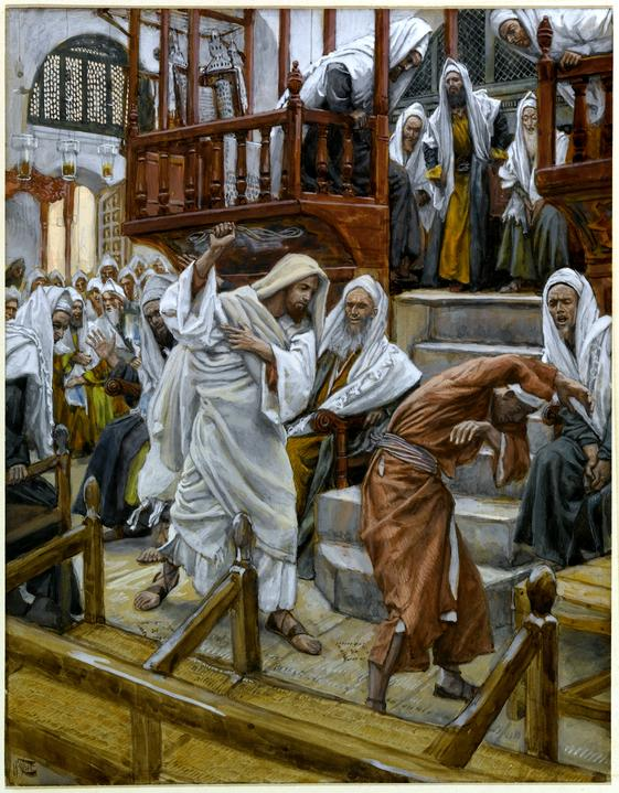 Homme avec un esprit impur à la synagogue